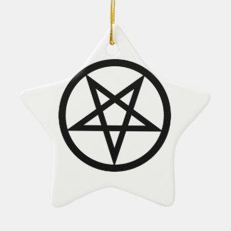 Bold Pentagram Ceramic Ornament