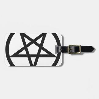Bold Pentagram Luggage Tag