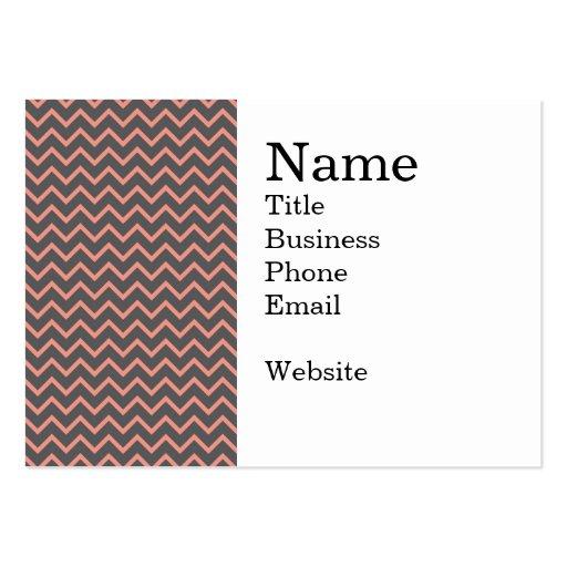 Bold Pink and Purple Zig Zag Striped Pattern Business Card