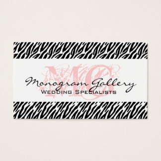 Bold Pink, Black Zebra Stripes Business Card