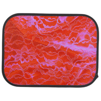 Bold Pink Silk Car Mat