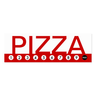 bold PIZZA customer loyalty Business Card Template