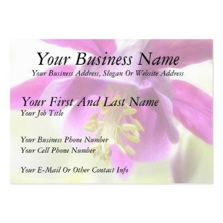 Bold Purple Columbine Business Cards