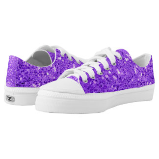 bold purple glitter low tops