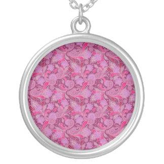 Bold Purple Paisley Necklace