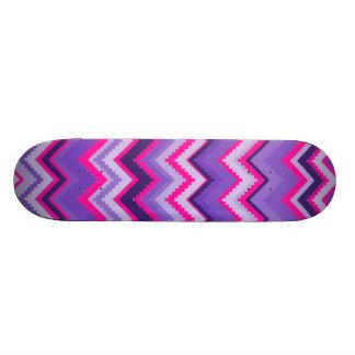 Bold Purple Pink Tribal Chevron Purple Girly Gifts 21.6 Cm Skateboard Deck