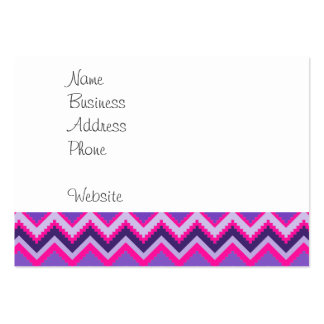 Bold Purple Pink Tribal Chevron Purple Girly Gifts Pack Of Chubby Business Cards