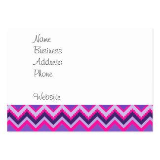 Bold Purple Pink Tribal Chevron Purple Girly Gifts Business Card