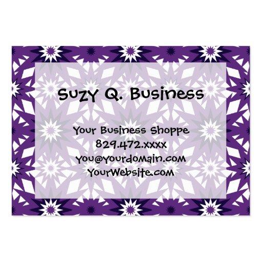 Bold Purple Star Pattern Starburst Design Business Card Templates