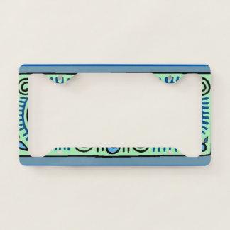 Bold Quenacho Blue Tribal  License Plate Frame