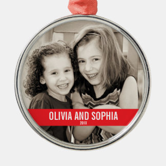 BOLD RED AND WHITE CHRISTMAS ORNAMENT