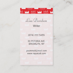 Red queen business cards zazzle au bold red and white king queen crown abstract business card reheart Image collections