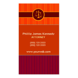 Bold  Red Attorney W/ Appointment Business Card