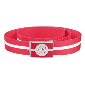 Bold Red Circle Monogram Belt