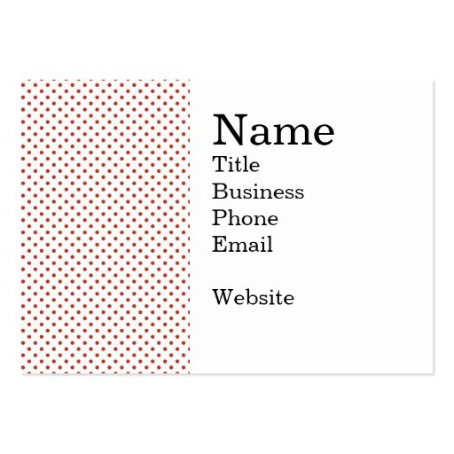 Bold Red Circles on White Pattern Business Card Template