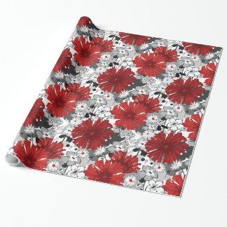 BOLD Red Dahlias Modern Floral Pattern