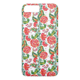 Bold Red Floral Dahlia Flower Floral Pattern iPhone 8 Plus/7 Plus Case