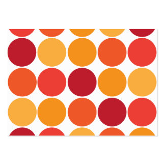 Bold Red Orange Big Polka Dots Circles Pattern Pack Of Chubby Business Cards