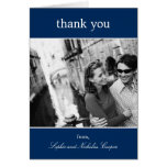 Bold Reminder Thank You Cards (Navy)