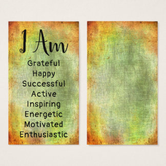 Bold, Rustic, Colorful DIY Affirmations Cards