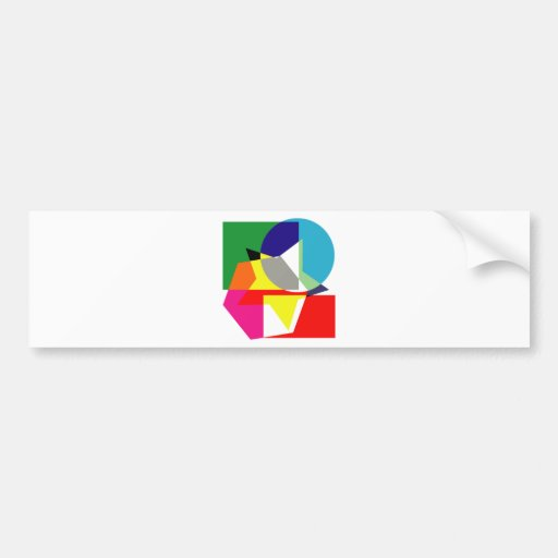 Bold Shapes Bumper Stickers
