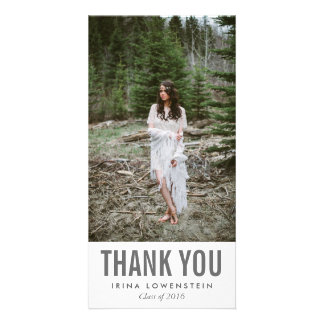 Bold Simple Graduate Thank You Picture Card