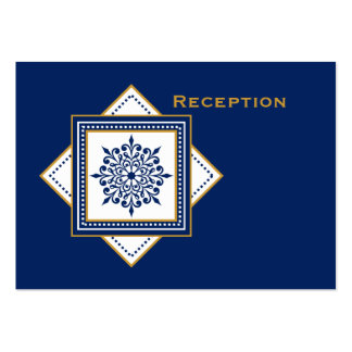 Bold Snowflake Blue Reception Card Pack Of Chubby Business Cards