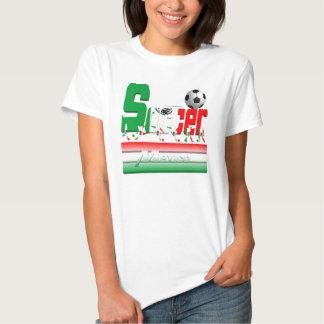 Bold Soccer Mexico Ladies ComfortSoft T-Shirt