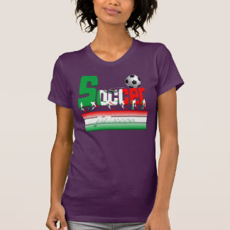 Bold Soccer Mexico Ladies Jersey T-Shirt