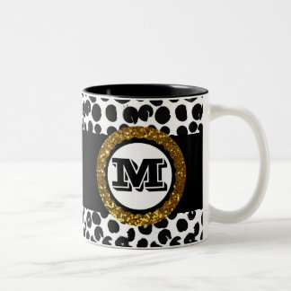 Bold & Sophisticated Wild Life Gold Black & White Two-Tone Coffee Mug