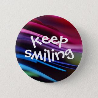 Bold Splashy Keep Smiling Button