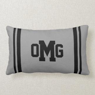 Bold/Sport Monogram Lumbar Pillow
