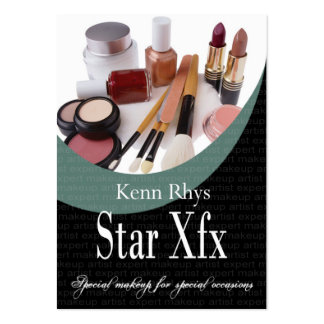 Bold Star Xfx Cosmetics Makeup Special Occasions Business Cards