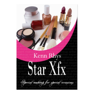 Bold Star Xfx Cosmetics Makeup Special Occasions Business Card Template