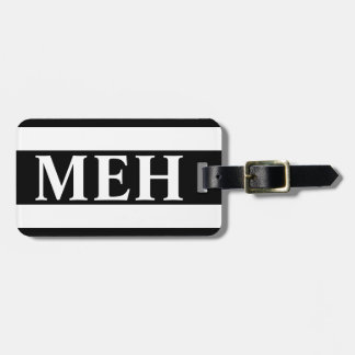 Bold Stripe Black and White Monogrammed Bag Tag