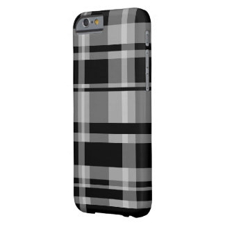 Bold Stripe Pattern - modern plaid - grey black Barely There iPhone 6 Case
