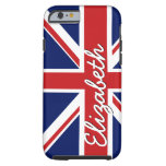 Bold Stripe Pattern - Union Jack Flag with Name iPhone 6 Case