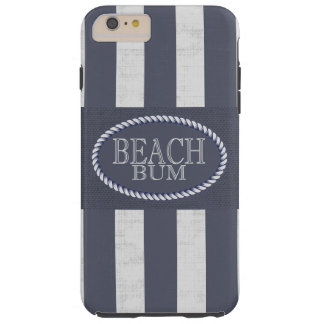 Bold Striped Beach Bum Theme Tough iPhone 6 Plus Case