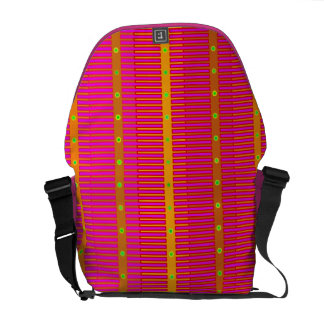Bold Striped Rickshaw Messenger Bag