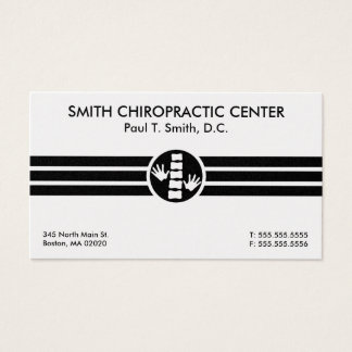 Bold Stripes Chiropractic Business Cards