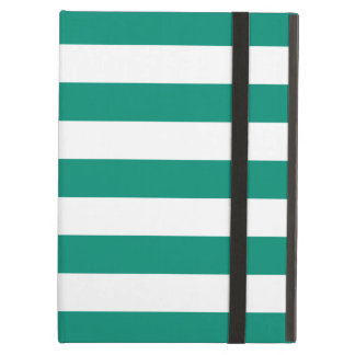 Bold Stripes Emerald Green iPad Air Case