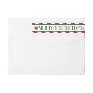 Bold Stripes Merry Christmas Label