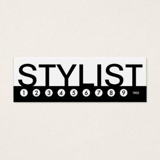 bold STYLIST customer loyalty Mini Business Card
