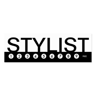 bold STYLIST customer loyalty Pack Of Skinny Business Cards