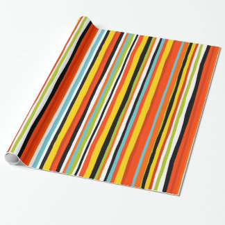 Bold summer stripe wrapping paper gift wrap