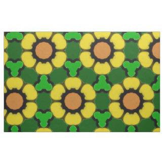 Bold Sunflower Pattern Fabric