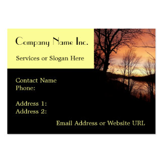 Bold Sunset Company Business Card