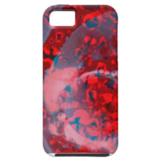 Bold swirling red and blue phone case design iPhone 5 cover