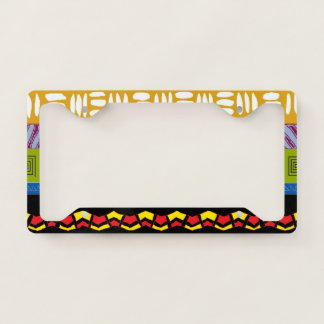 Bold Tambora Tribal Pattern License Plate Frame