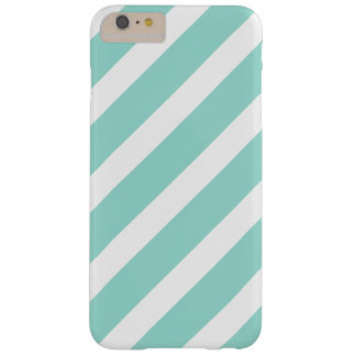 Bold Teal and White Stripes Pattern Barely There iPhone 6 Plus Case